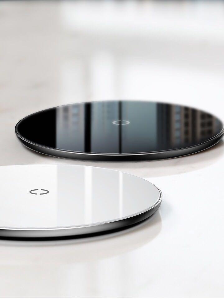 baseus 10w schnell qi kabelloser ladeger t weiss alb. Black Bedroom Furniture Sets. Home Design Ideas