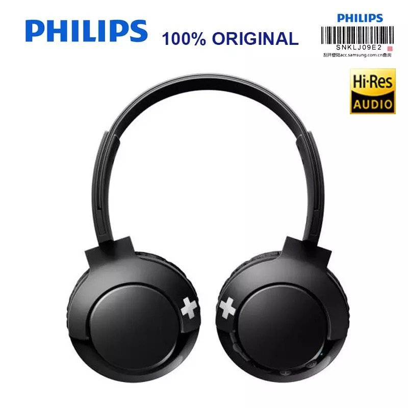 philips bass on ear bluetooth kopfh rer schwarz alb. Black Bedroom Furniture Sets. Home Design Ideas