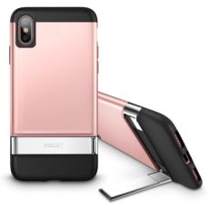 ESR für iPhone X/XS 2020 Metall Ständer Fall Vertikalen Ständer Halter stoßstange Abdeckung für iPhone X/XS Farbe Rosa