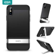 ESR für iPhone XS/X 2020 Metall Ständer Fall Vertikalen Ständer Halter stoßstange Abdeckung für iPhone X/XS